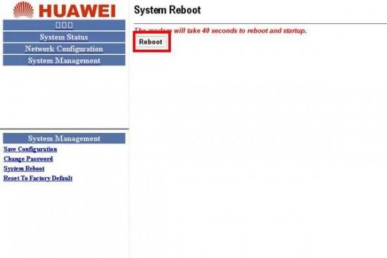 Save Config - Modem Huawei SmartAX MT800