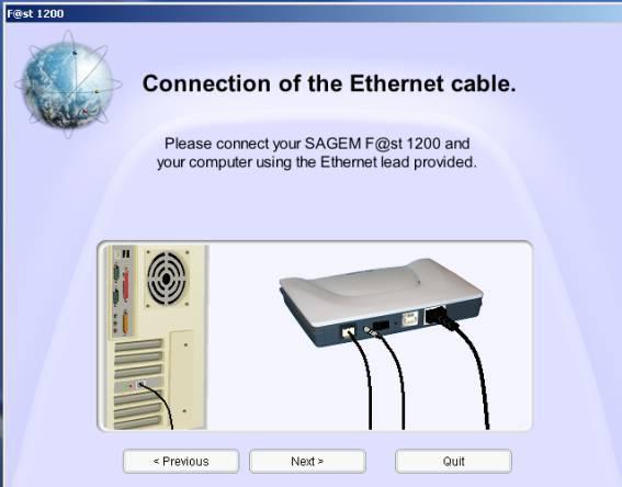 Sagem 1200 - Conexão
