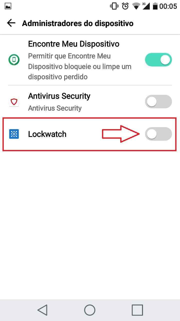 Lochwatch -  Tela administrador - Ativando administrador
