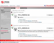 TrendMicro - Software Antivírus Online - Janela Resultado