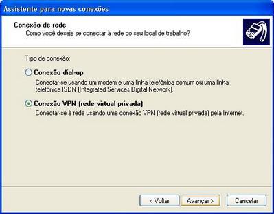 configurando vpn em modo cliente no windows xp